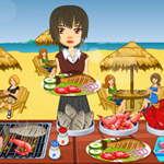 Free online flash games - Beach Food Paradise game - Games2Rule