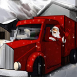 Free online flash games - Xmas Truck Parking game - Games2Rule