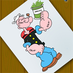 Free online flash games - Dot to Dot-Popeye game - Games2Rule